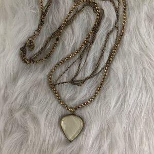 Lucky Brand | Multi Strand Gold Tone Necklace